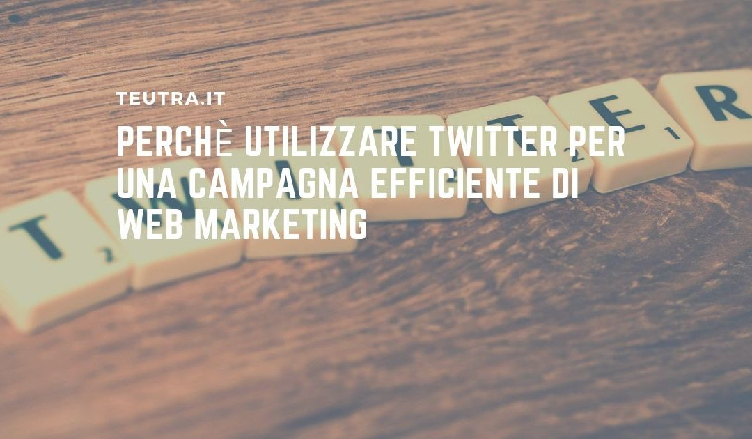 Perchè utilizzare Twitter per una campagna efficiente di web marketing