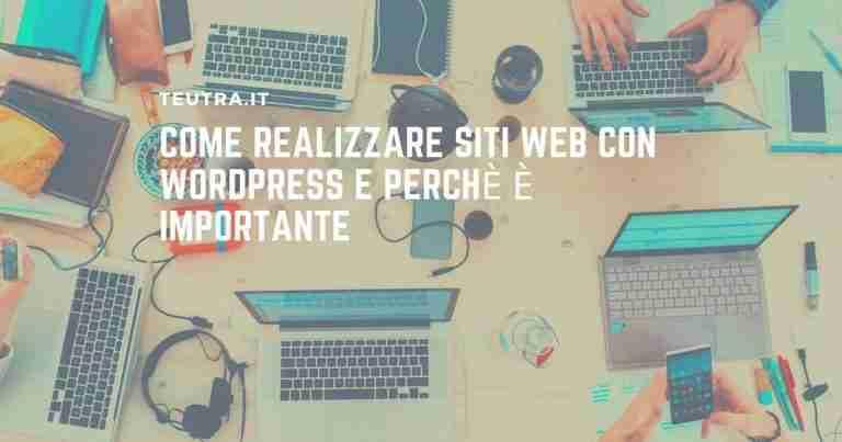 realizzare siti web con wordpress