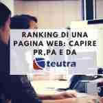 Ranking di una pagina web tra PR, PA, DA e zoom ranking