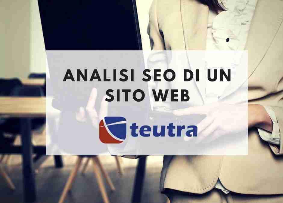 Analisi seo di un sito web