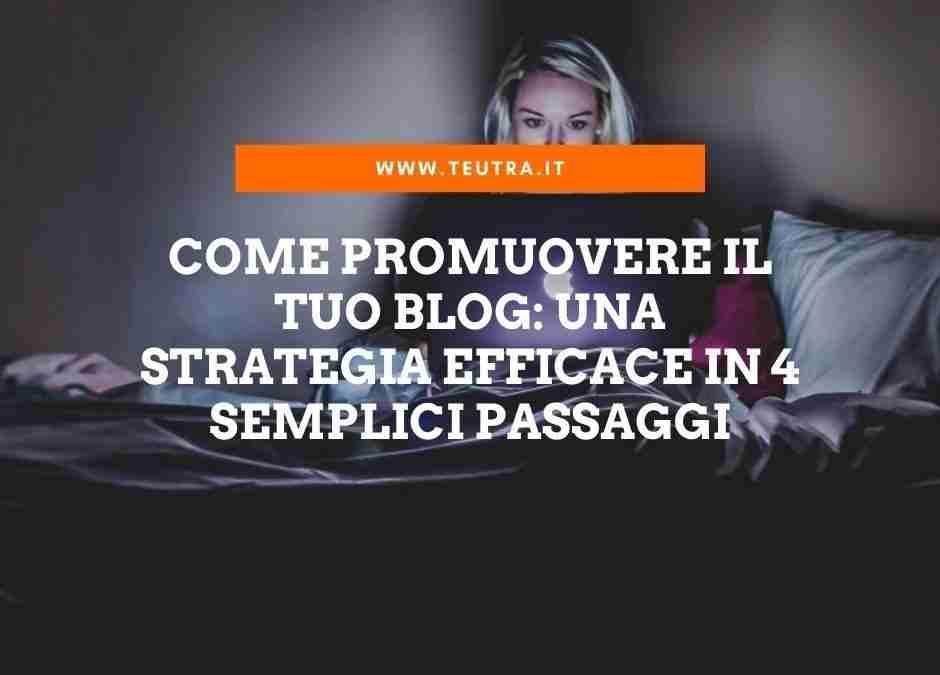 Come promuovere il tuo blog: una strategia efficace in 4 semplici passaggi