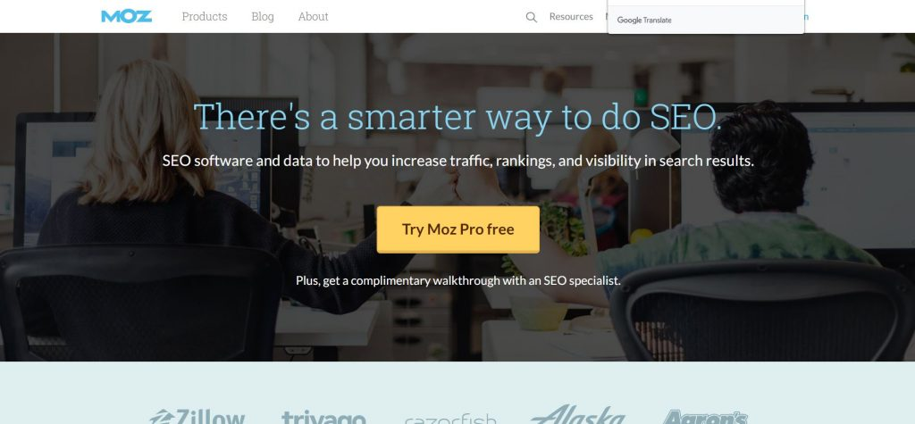 moz home page