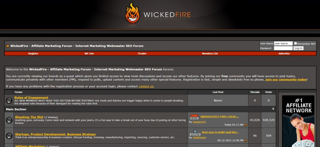 wiked fire home page