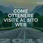 Come ottenere visite al sito web