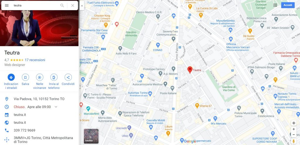 teutra on google maps
